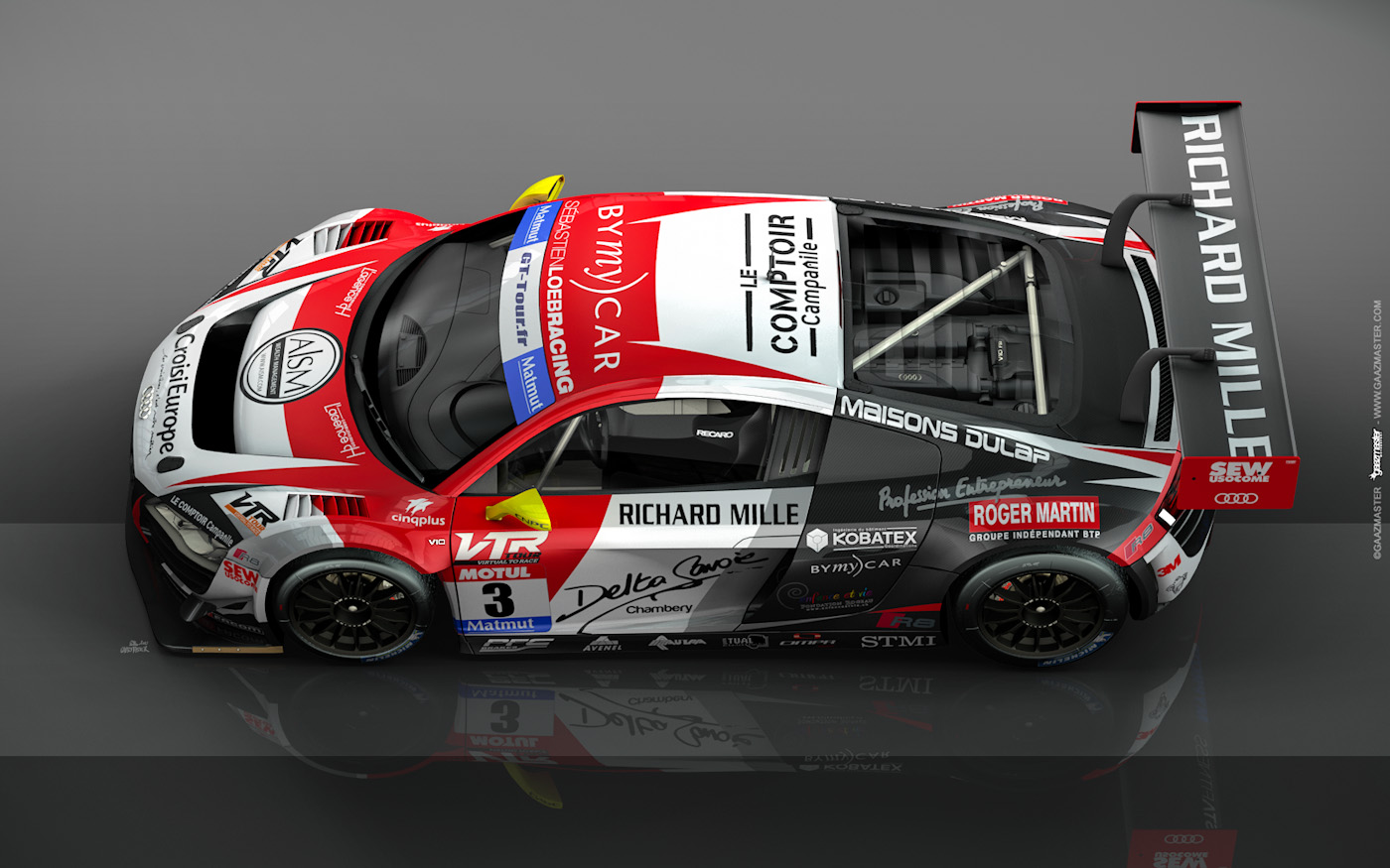 Gaazmaster Motorsport Audi R8 Lms Ultra S 233 Bastien Loeb